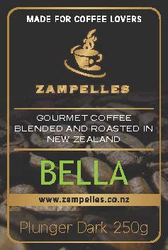 Bella 250gm Dark Ground Plunger Coffee